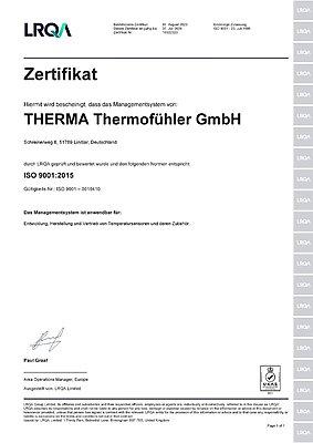 Zertifikat-Therma-Thermofuehler-gmbh-ISO-9001-2015